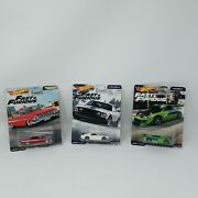 New Hot Wheels Fast And The Furious Diecast Car Lot W/ Rare 69 Ford Mustang Boss