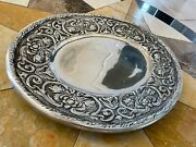 Wilton Armetale William And Mary Sm Heavy Oval Pewter Platter Tray 14.5 X 12 Nice