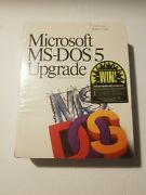 Microsoft Ms-dos 5 Upgrade New, Factory Sealed Vintage Computer Software