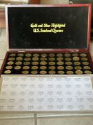 Gold And Silver Highlighted Statehood Quarters Collection See Description