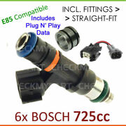 6x New Bosch 725cc E85 Fuel Injector Set-up For Toyota Hilux Vzn Rzn 3.4l 6cyl