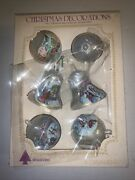 12 Vintage Poland Glass Christmas Ornaments Rare Paint Bell And Ball Bradford S21