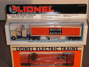Lionel Flatcar And Tractor Trailer 6-52040. Perfect Layout/shelf Addition, W/ob
