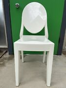 Authentic Kartell Victoria Ghost Chair Set Of 2 | Design Within Reach White
