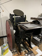 Chandler And Price 10x15 Platen Press With Motor And Boxcar