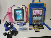 Vtech V Reader + Case 7 Game Cartridges And Innotab + Case 3 Cartridges Chargers
