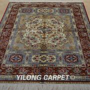 4and039x6and039 Handwoven Silk Carpets Indoor Family Room Traditional Floor Area Rug 1916