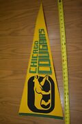 """Vintage 1972-75 Chicago Cougars Wha Hockey Team Pennant, 30.5""""- Nice"""