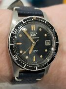 Rare Vintage Sdw-2 Voit Diver Watch Amf Aqualung Just Serviced