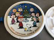 Danbury Mint Peanuts Magical Moments Merry Christmas Charlie Brown Plate F245