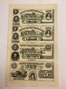 Us Obsolete Currency Uncut Sheet Bank Of New England At Goodspeeds Landing 1800s