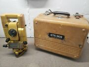 Topcon Total Station - Gts 300 Surveying Equipment Level Sight W/ Case