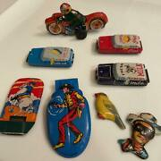 Vintage Made In Japan Tin Toy Set About 50 Years Ago