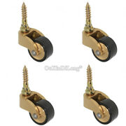 4pcs Brass Universal Furniture Casters Table Chair Sofa Rubber Mute Wheel Roller
