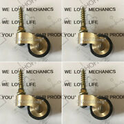4pcs Brass Universal Furniture Casters Table Chair Sofa Piano Rubber Mute Wheels