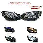 Upgrade 2018+ Led For 2013-2017 Mercedes Benz S Class S550 S63 S65 Headlight Set