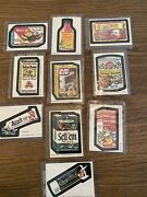Lot Of 10 Topps 1980 Wacky Packages Cards Stickers 180-189 In Top Loaders