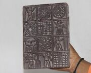 Vintage Wooden Printing Blocks Hand Carved Textile Fabric Stamps 12853