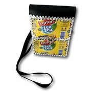 Lipton Ice Tea Tin Can Purse Crossover Bag Beer Can Hat Style Yellow Lemonade