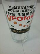 Mcmenamins Hotel Oregon 17th Annual Ufofest May 12-15 2016 Beer Pint Glass