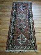 Antique Hamadan Rug Runner 2and0399x6and03910
