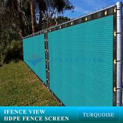 Ifenceview 21 Ft Wide Turquoise Fence Privacy Screen Patio Top Sun Shade Cover