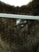 Plus Size Knitted Mink Sweater Coat Xxl Nwot
