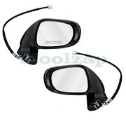 For 10-12 Es350 Rear View Mirror Power Heated W/signal And Puddle Lamp Set Pair