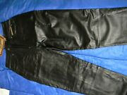 Womens Harley Davidson Black Leather Pants Size 08 New W/ Tags