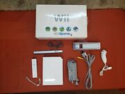 Nintendo Wii Rvl-001 With Remote, Nunchuck, Games, Sensor And Cables Read