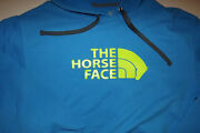 Very Rare--the Horse Face -fruit Of The Loom Hoodie Large Sweatshirt Mens T542