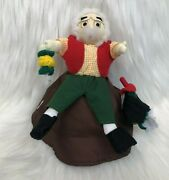 Pinocchio Geppetto Jiminy Cricket Reversible Story Time Doll Plush Puppet Toy