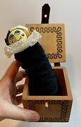 Vintage 1977 Front Porch Toys Wood Jack In The Box Jester Doll Pop-out Signed