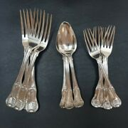 Antique Sterling Silver Cutlery Set C/1805 Blantyre Family Crest 53354