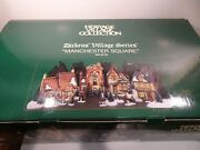 Dept 56 Heritage Collection Dickens' Village Series Manchester Square 25 Pcs