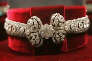 Vintage 925 Silver Empress Of Russia The Great Catherine Diamond Necklace