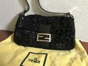 Rare Fendi Baguette Beads Bag With G-card _35190