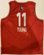 Trae Young Signed 2020 All-star Nike Jersey 1st Asg Psa Atlanta Hawks Full Sig
