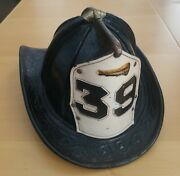 Vintage Authentic Retired Fdny Cairns Leather Fire Helmet With Front Shield