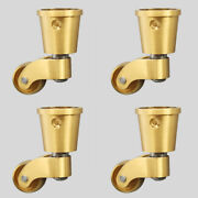 4pcs Pure Brass Universal Furniture Casters Table Chair Sofa Piano Wheel Rollers