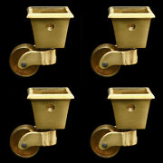 New 4pcs Pure Brass Universal Furniture Casters Table Chair Sofa Wheels Rollers