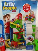 Fisher-price Little People Sit And039n Stand Skyway Set 2 Ways To Play W/ 2 Cars