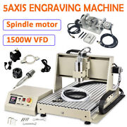 Usb 5-axis 1.5kw Cnc 6040 Router Engraving Machine Wood Metal Steel Mill/cutting