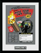 Minecraft - Make Your Own Torch Framed Collector Poster 16x12in 106775