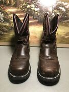 Womenand039s Justin Gypsy Wkl9980 Aged Bark Steel Toe Work Boots Size 7b
