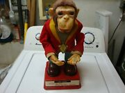 1950s Made In Japan Mechanical Monkey With Very Rare Original Tag