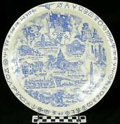 Vernon Kilns Texas Lone Star State Will Rogers Memorial Fort Worth Plate Hh