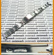 Vintage 50and039s Gay Freres Expanding Riveted Bracelet 19mm Straight Ends Mint-rolex