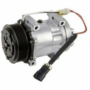 Ac Compressor And 119mm 8 Groove A/c Clutch For Ford Motorhome Rv 1998-2005 Bpf