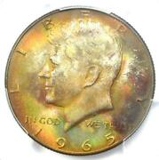 1965 Kennedy Half Dollar 50c Coin - Pcgs Ms67 - Rare In Ms67 - 2,750 Value